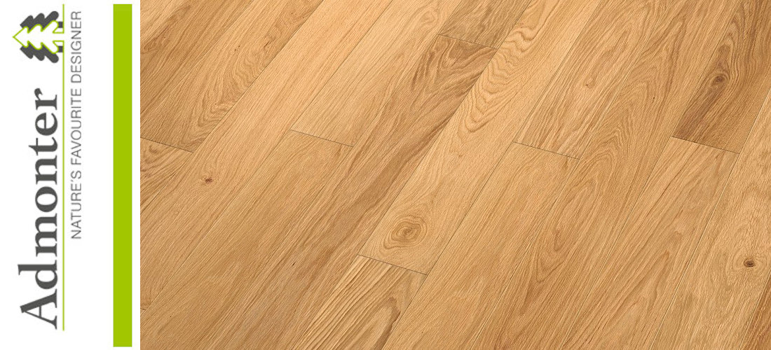 Admonter FLOORs Landhausdielen Eiche small  basic geschliffen matt lackiert - Made in Austria
